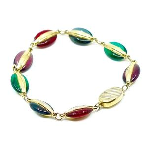 SWAROVSKI~multi-color~CRYSTAL LINK BRACELET
